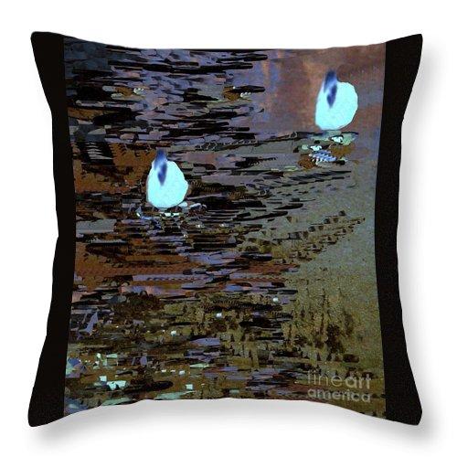 Digital Art Throw Pillow featuring the digital art Midnight Swim by Nancy Kane Chapman