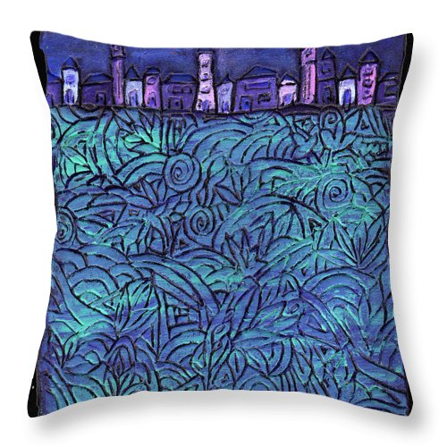 Night Throw Pillow featuring the painting Midnight by Wayne Potrafka