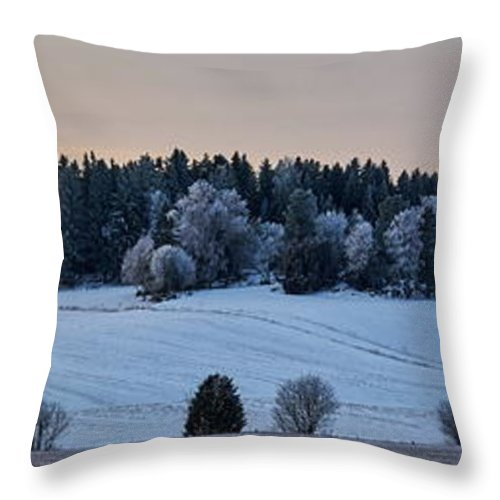 Finland Throw Pillow featuring the photograph Mihari Fields by Jouko Lehto