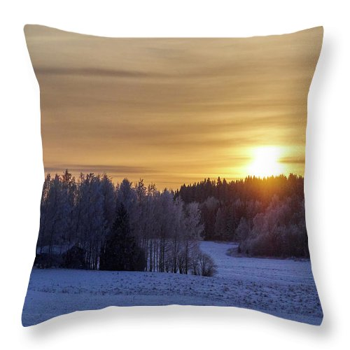 Finland Throw Pillow featuring the photograph Mihari by Jouko Lehto