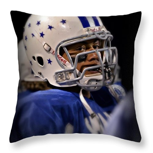 Throw Pillow featuring the painting Mike Glass by Mary Tuomi