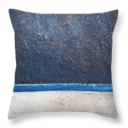 Abstract Throw Pillow featuring the painting Milky Way by Vesna Antic