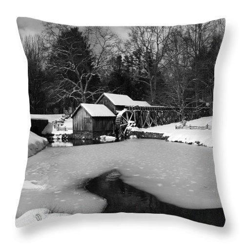 Ice Throw Pillow featuring the photograph Mill On Ice by Eric Liller