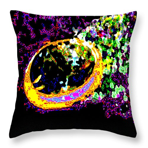 Square Throw Pillow featuring the digital art Millennium Falcon Making The Kessel Run by Eikoni Images