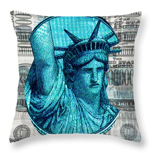 Millions Throw Pillow featuring the digital art Million Dollar Pile by Seth Weaver