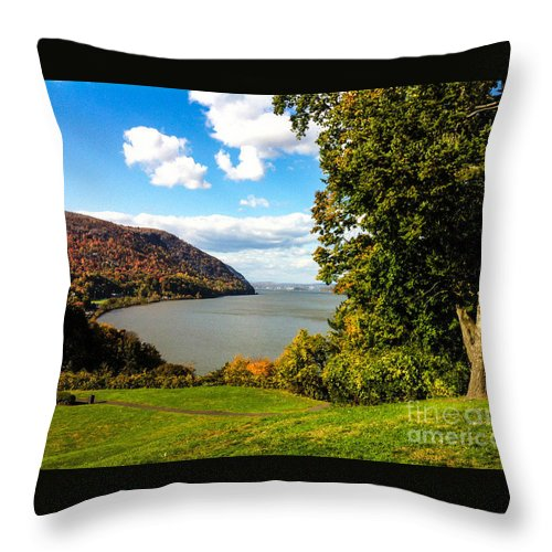 The Million Dollar View Throw Pillow featuring the photograph Million Dollar View by William Rogers