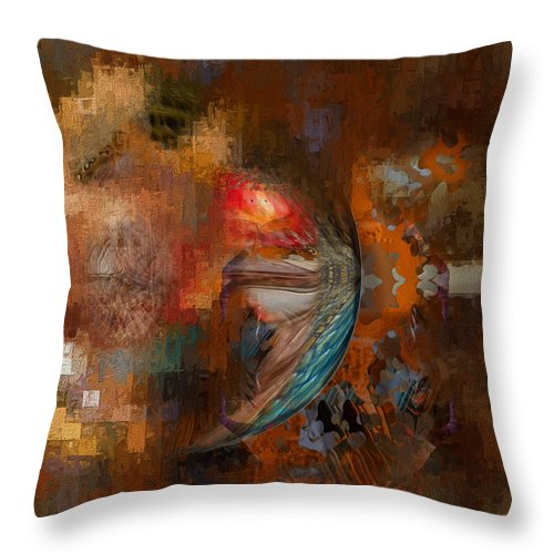 Colorful Throw Pillow featuring the digital art Minds Eye by Mike Butler
