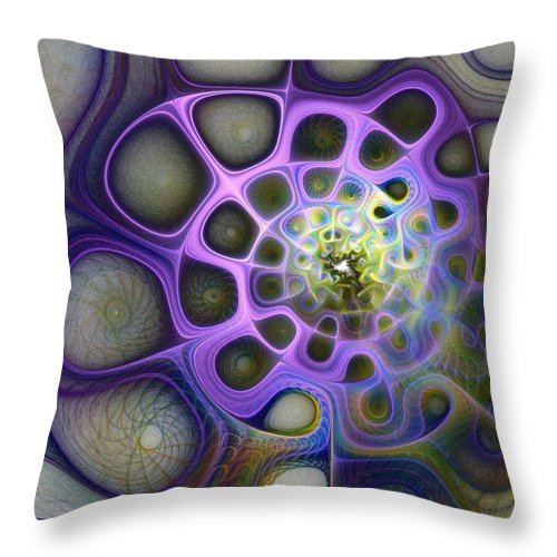 Digital Art Throw Pillow featuring the digital art Mindscapes by Amanda Moore