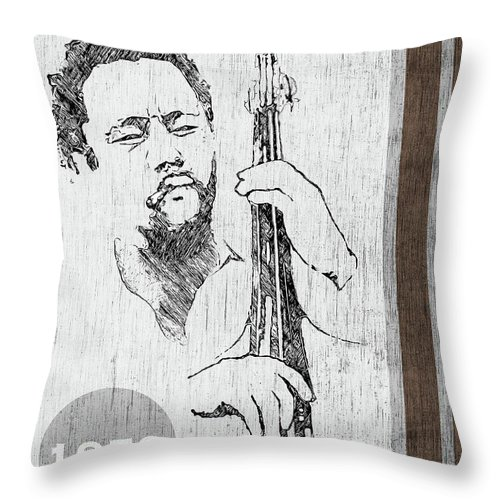 Charles Throw Pillow featuring the digital art Mingus - Ah Um by Regina Wyatt