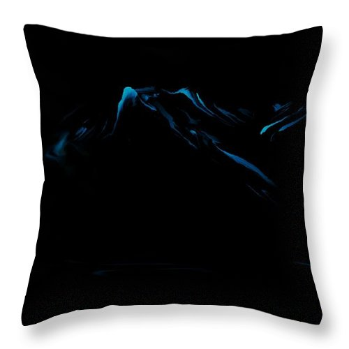 Digital Art Throw Pillow featuring the digital art Minimal Landscape Blue by David Lane