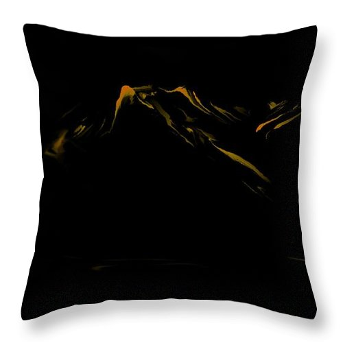 Digital Art Throw Pillow featuring the digital art Minimal Landscape Yellow by David Lane