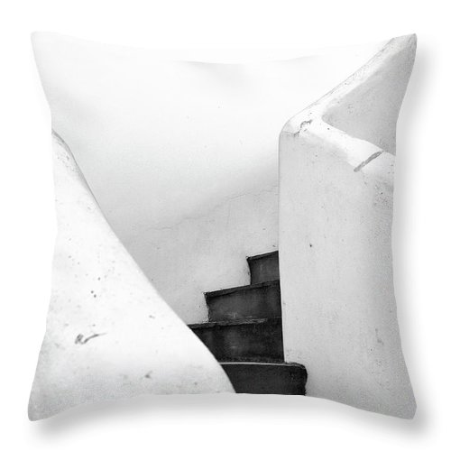 Minimal Throw Pillow featuring the photograph Minimal Staircase by PrintsProject
