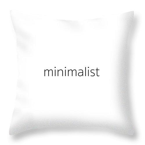 Word Art Throw Pillow featuring the photograph Minimalist by Bill Owen