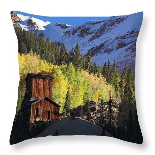 Colorado Throw Pillow featuring the photograph Mining Ruins by Steve Stuller