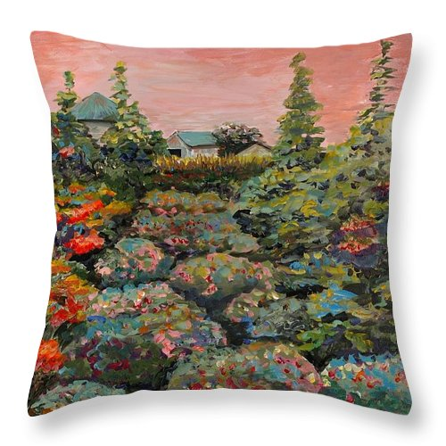 Minnesota Throw Pillow featuring the painting Minnesota Memories by Nadine Rippelmeyer