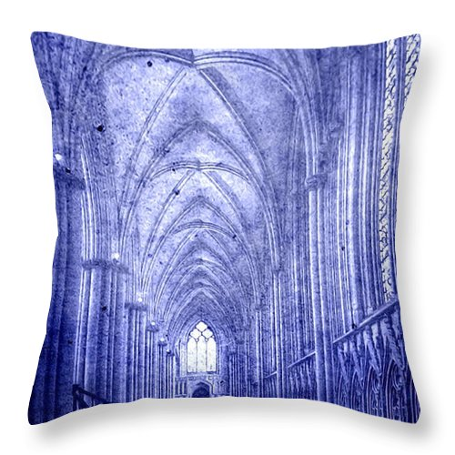 Abbey Throw Pillow featuring the photograph Minster In Blue by Svetlana Sewell