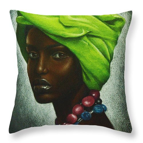 Beautiful Throw Pillow featuring the drawing Mint Chocolate by Charlene Cooper