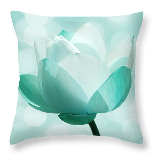 Lotus Throw Pillow featuring the photograph Mint by Jacky Gerritsen