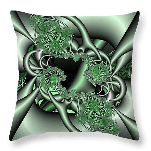 Fractal Throw Pillow featuring the digital art Mint3 by Ron Bissett