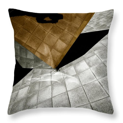 Sculpture Throw Pillow featuring the photograph Mirror Act by Wayne Sherriff