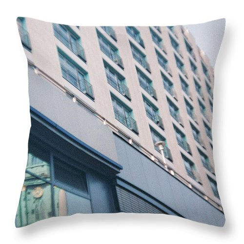 Mirrored Throw Pillow featuring the photograph Mirrored Berlin by Nacho Vega