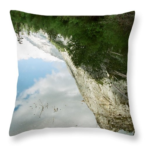 Mirror Lake Throw Pillow featuring the photograph Mirrored by Kathy McClure