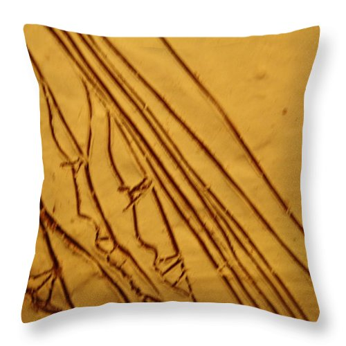 Jesus Throw Pillow featuring the ceramic art Mirrors Of Life - Tile by Gloria Ssali