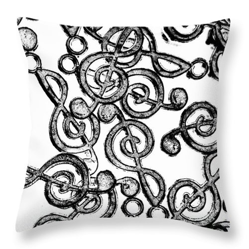 Clef Throw Pillow featuring the photograph Mishmash Melodies by Jorgo Photography - Wall Art Gallery
