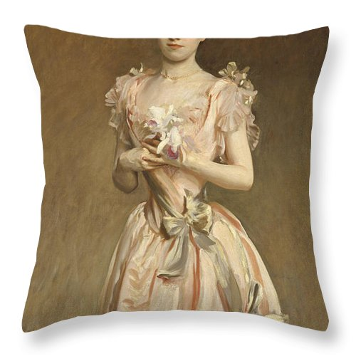Throw Pillow featuring the painting Miss Grace Woodhouse by John Singer Sargent