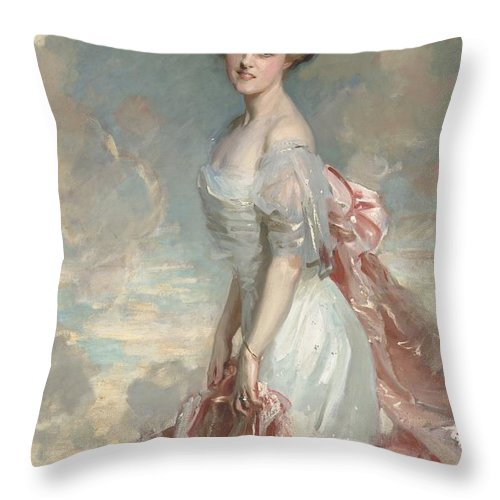 Throw Pillow featuring the painting Miss Mathilde Townsend by John Singer Sargent