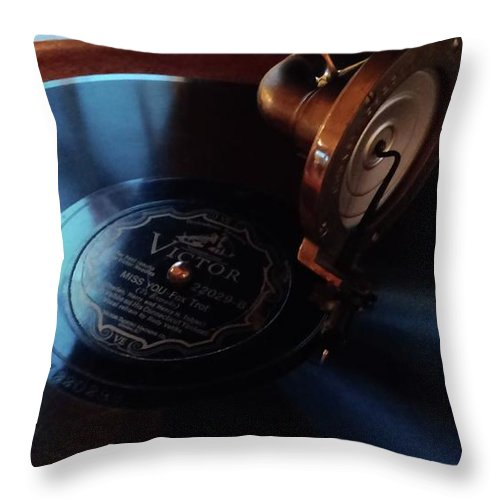 Retro Throw Pillow featuring the photograph Miss You - Fox Trot by Michelle Calkins