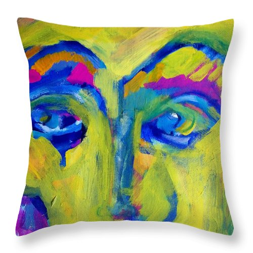 Abstract Throw Pillow featuring the painting Missing You by Judith Redman