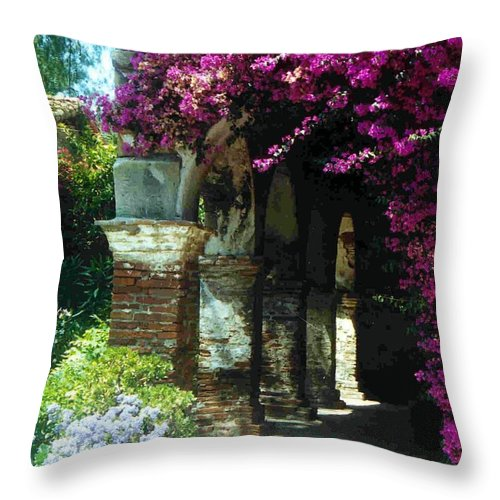 Mission Throw Pillow featuring the photograph Mission Series II by Jacqueline Russell