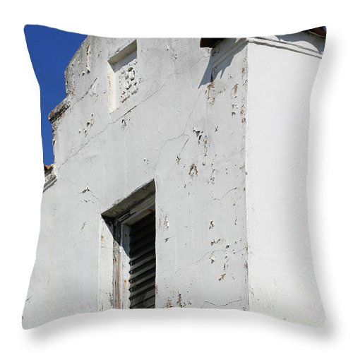 Mission Throw Pillow featuring the photograph Mission Style Architecture by Marilyn Hunt