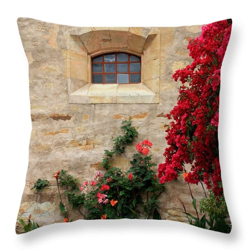 Window Throw Pillow featuring the photograph Mission Window by Carol Groenen