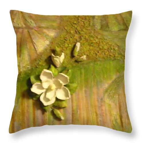 Mississippi Throw Pillow featuring the painting Mississippi Regions by Sheri Hubbard