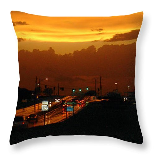 Landscape Throw Pillow featuring the photograph Missouri 291 by Steve Karol