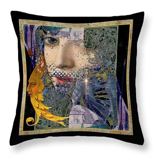 Dreamscape Throw Pillow featuring the painting Mist Into Light by Laura Botsford