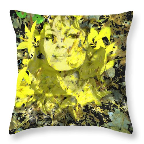 Mistress Of Autumn Throw Pillow featuring the digital art Mistress of Autumn by Seth Weaver