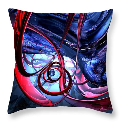 3d Throw Pillow featuring the digital art Misty Dreams Abstract by Alexander Butler