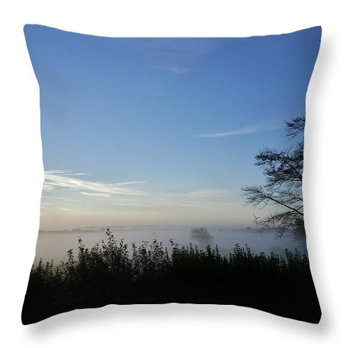 Mist Throw Pillow featuring the photograph Misty Morn by Richard Brookes