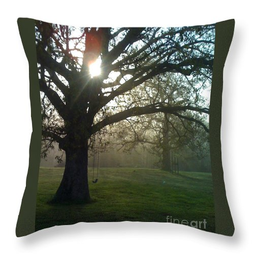 Mist Throw Pillow featuring the photograph Misty Morning by Nadine Rippelmeyer