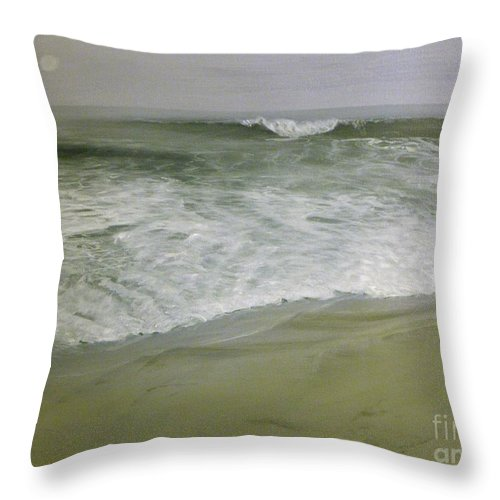 Storm Throw Pillow featuring the painting Misty Seas by Patty Moramarco