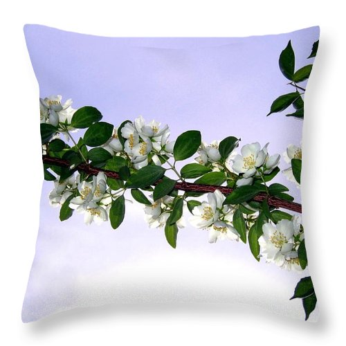 Mock Orange Throw Pillow featuring the photograph Mock Orange by Will Borden