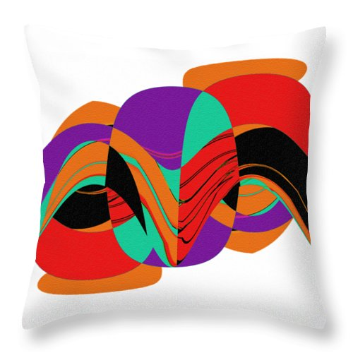 Modern Art 2 Throw Pillow featuring the painting Modern Art 2 by Methune Hively