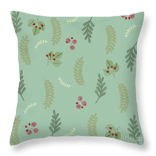 Modern Botanical Pillow : Modern Botanical Study Pattern, Spring And Summer Throw Pillow for Sale by Tina Lavoie