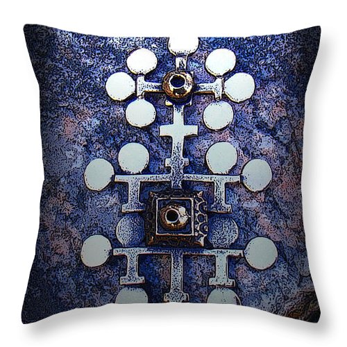 Sarpaneva Throw Pillow featuring the photograph Modern Bronze Design by Merja Waters