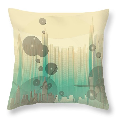 Modern City Abstract Throw Pillow featuring the photograph Modern City Abstract by Robert G Kernodle