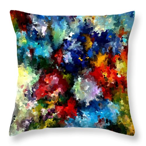 Contemporary Throw Pillow featuring the painting Modern Composition 03 by Rafi Talby