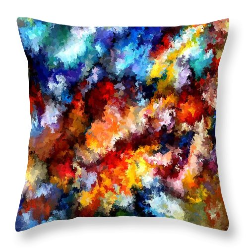 Contemporary Throw Pillow featuring the painting Modern Composition 06 by Rafi Talby